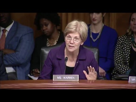 "Senator Elizabeth Warren; ""Serious research on the potential benefits and drawbacks of medical marijuana is largely blocked by outdated federal laws and policies."" [0:30-0:40]"