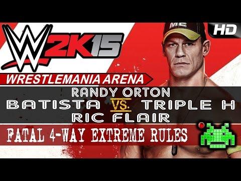 WWE 2K15 - Flair vs Batista vs Orton vs HHH [Fatal 4-Way]
