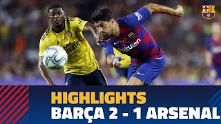 HIGHLIGHTS | FC Barcelona – Arsenal (2-1) | Gamper Trophy