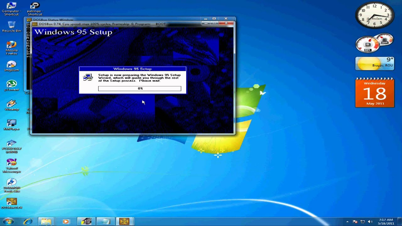 windows 98 emulator für windows 7