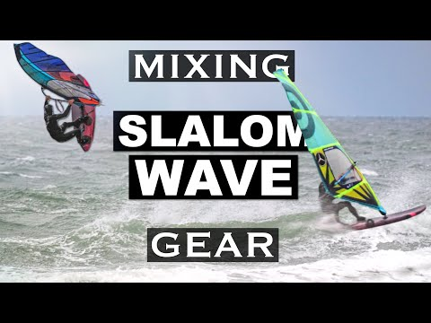 SLALOM SAIL + WAVE BOARD & vice versa | vlog 28₂₀₂₀