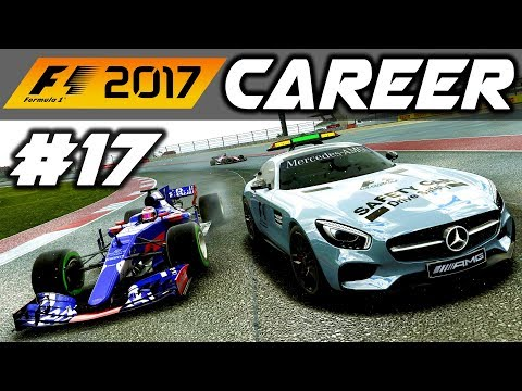 F1 2017 Career Mode Part 17: HITTING THE SAFETY CAR - USA GP