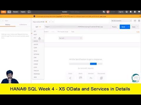 HANA XS - Create XSJS Service, Return a response from XSJS Service, Postman  Client