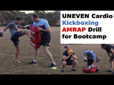 AMRAP Cardio Kick Boxing Workout For Uneven Numbers | FITNESS EDUCATION ONLINE