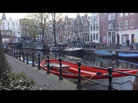 sunset in amsterdam Nice shutter & canal Netherland