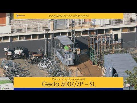Personen-goederenlift Geda 500ZZP SL
