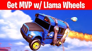 Get MVP in any Online Match with the Llama Wheels in Rocket League (Llama-Rama Challenges)