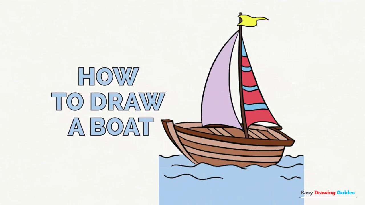 How to Draw a Boat in ...