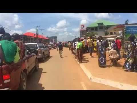 President Weah has arrived in Ganta City, Nimba County