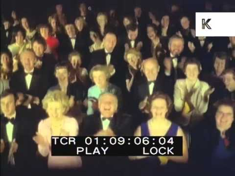 1950s/ 1960s Happy Theatre Audience, Applause, Standing Ovation, 35mm Colour Footage