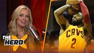 Kyrie Irving reportedly ecstatic about being traded to the Boston Celtics | THE HERD
