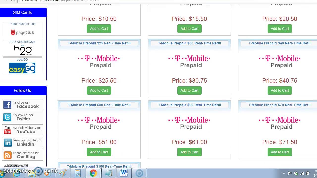 Discounted T-Mobile Prepaid Refill Coupon Code