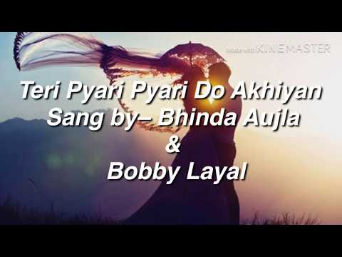 Teri Pyari Pyari Do Akhiyan With Lyrics