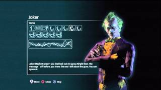 Batman arkham city Joker missed calls