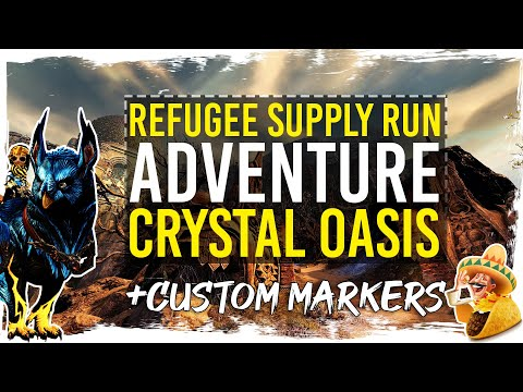 Guild Wars 2 Path of Fire - Adventure - Refugee Supply Run - Gold Chest + TacO Markers