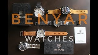 Мужские часы BENYAR/Обзор качественных часов из Китая/5 крутых часов/ИДЕЯ ПОДАРКА