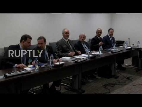 Switzerland: Jaafari meets with de Mistura as Syria peace talks continue