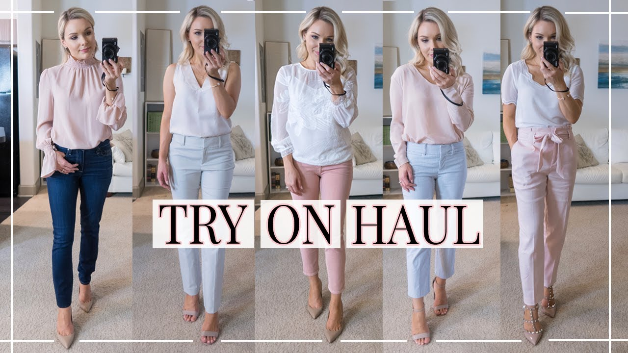 409deb8257 BUSINESS CASUAL TRY-ON HAUL + OUTFIT IDEAS