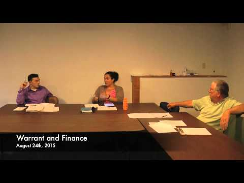 Warrant and Finance - 08-24-2015