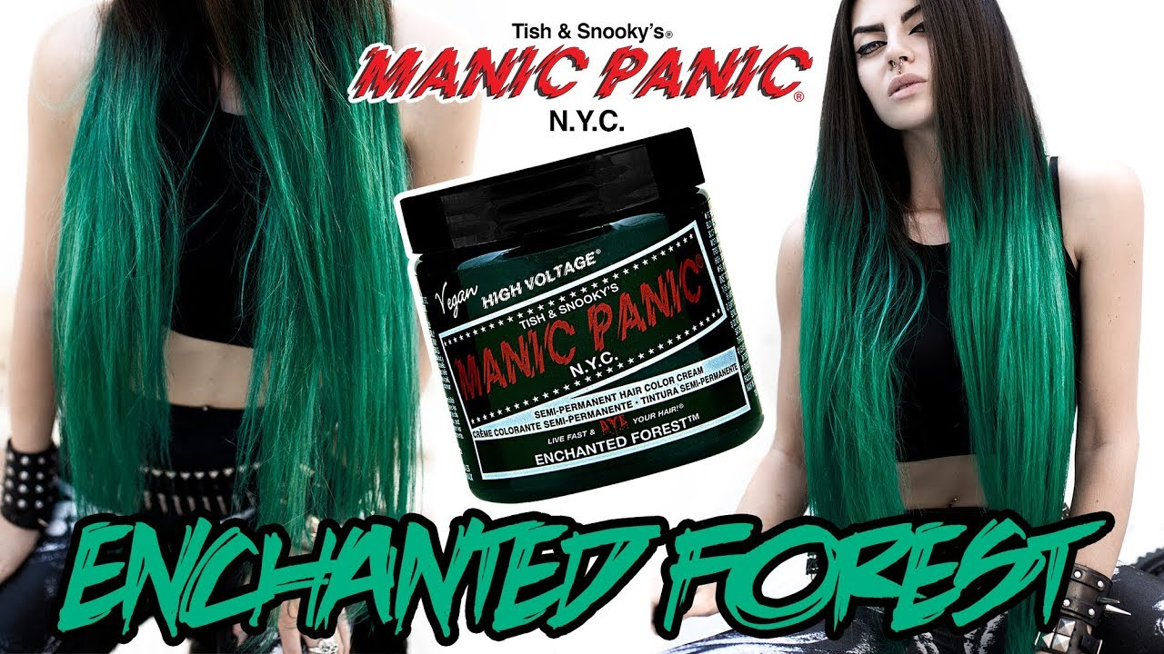Enchanted forest manic panic on unbleached hair