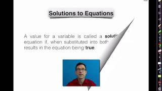 Common Core Algebra I.Unit #2.Lesson #1.Equations and Their Solutions