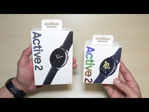 Samsung Galaxy Watch Active 2 | Stainless Steel | Silver | Unboxing | First Impressions | Setting Up