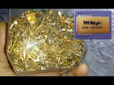 Full plated pins gold recovery vith Nitric acid!