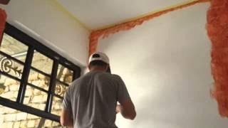 طريقة طﻻء الجدران بالفابيانو