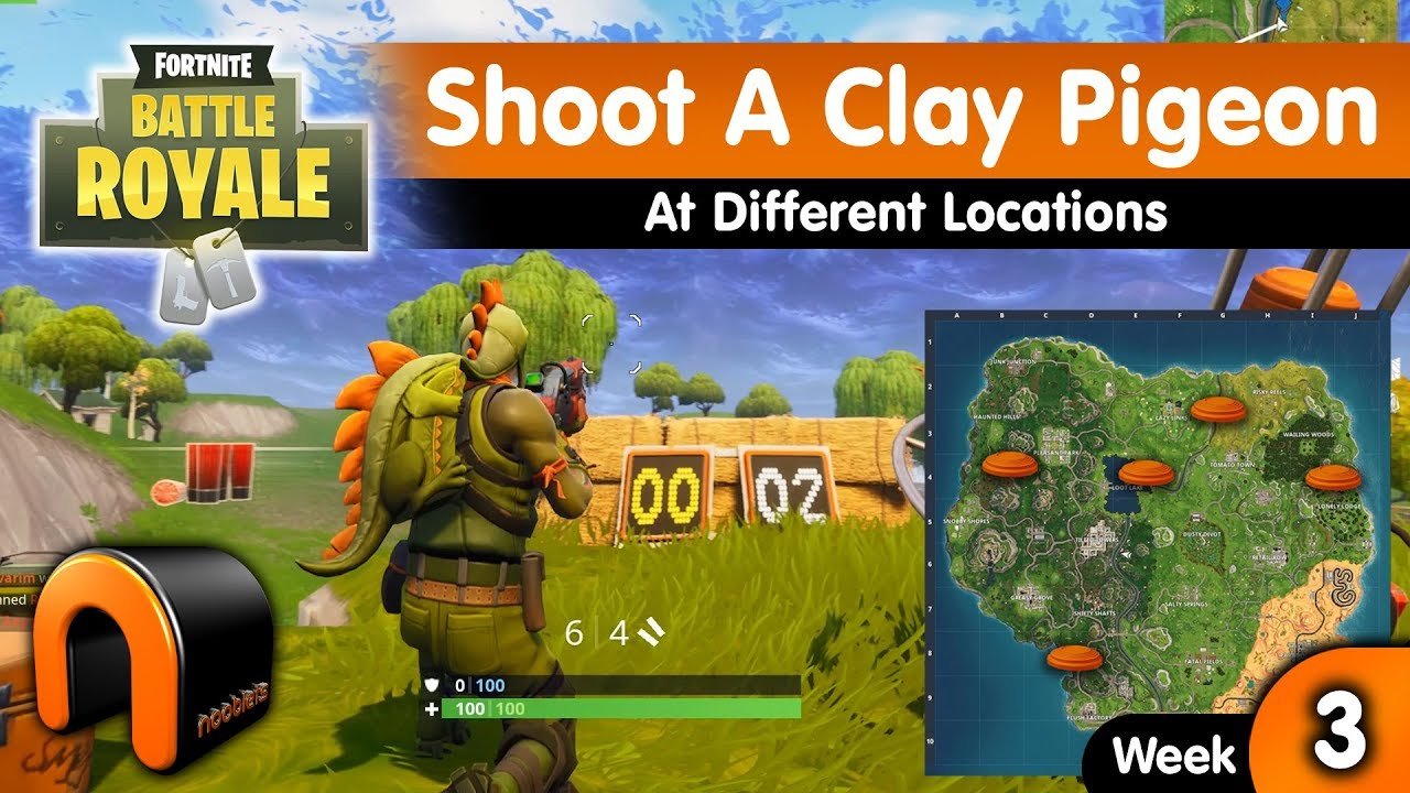 clay pigeon locations in fortnite battle royale