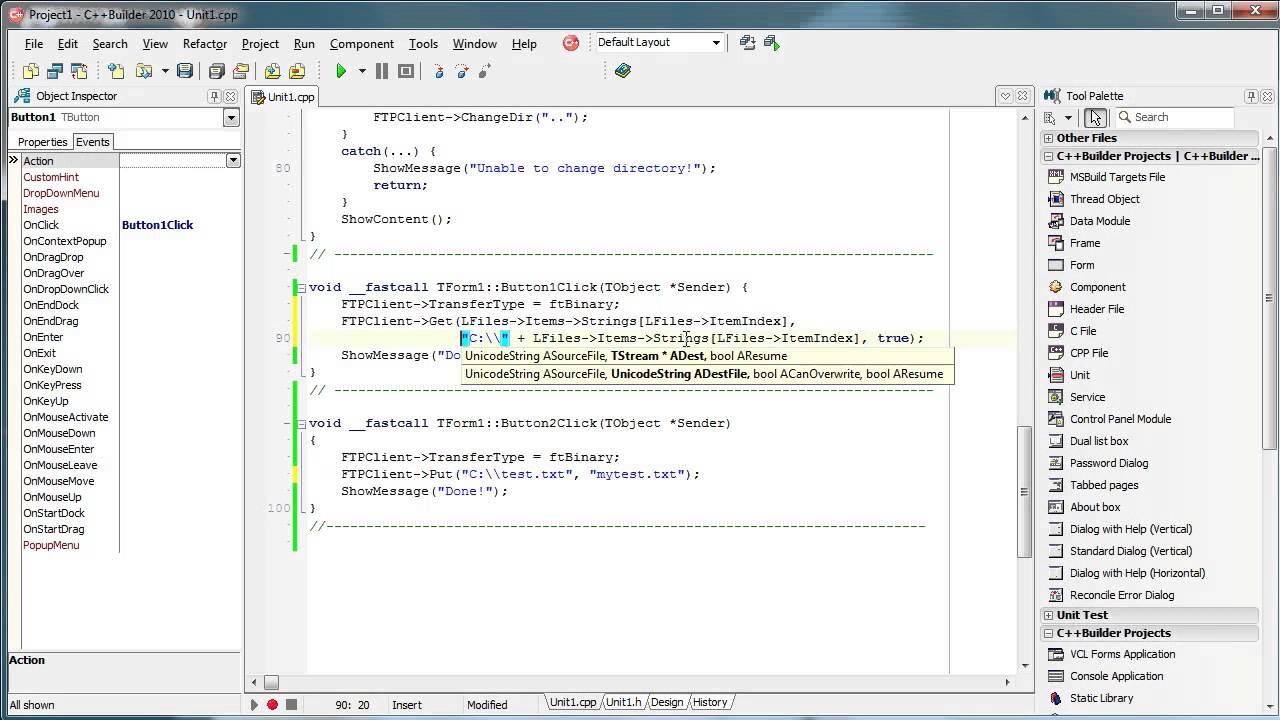 C++ Builder - Indy FTP Client