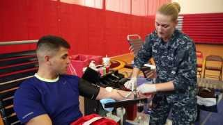 Army-Navy Blood Drive at Marine Corps Base Quantico