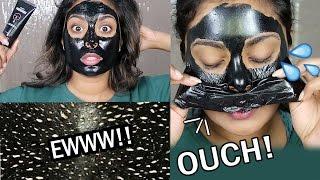 Blackhead Peel Off Charcoal  Mask - JOVI TRIES Japanese Skincare BLACK MASK
