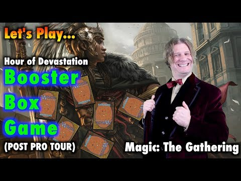 Let's Play The Hour of Devastation Booster Box Game - Magic: The Gathering (Post Pro Tour Unboxing)