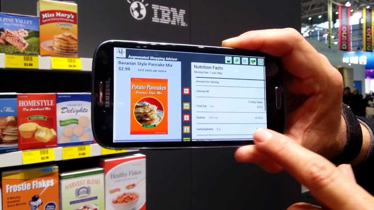 IBM augmented reality shopping app on CeBIT 2013 - YouTube