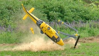 GIGANTIC RC HELICOPTER CRASH HUGE RC AGUSTA A-109 SCALE MODEL TURBINE HELICOPTER FLIGHT AND CRASH thumbnail
