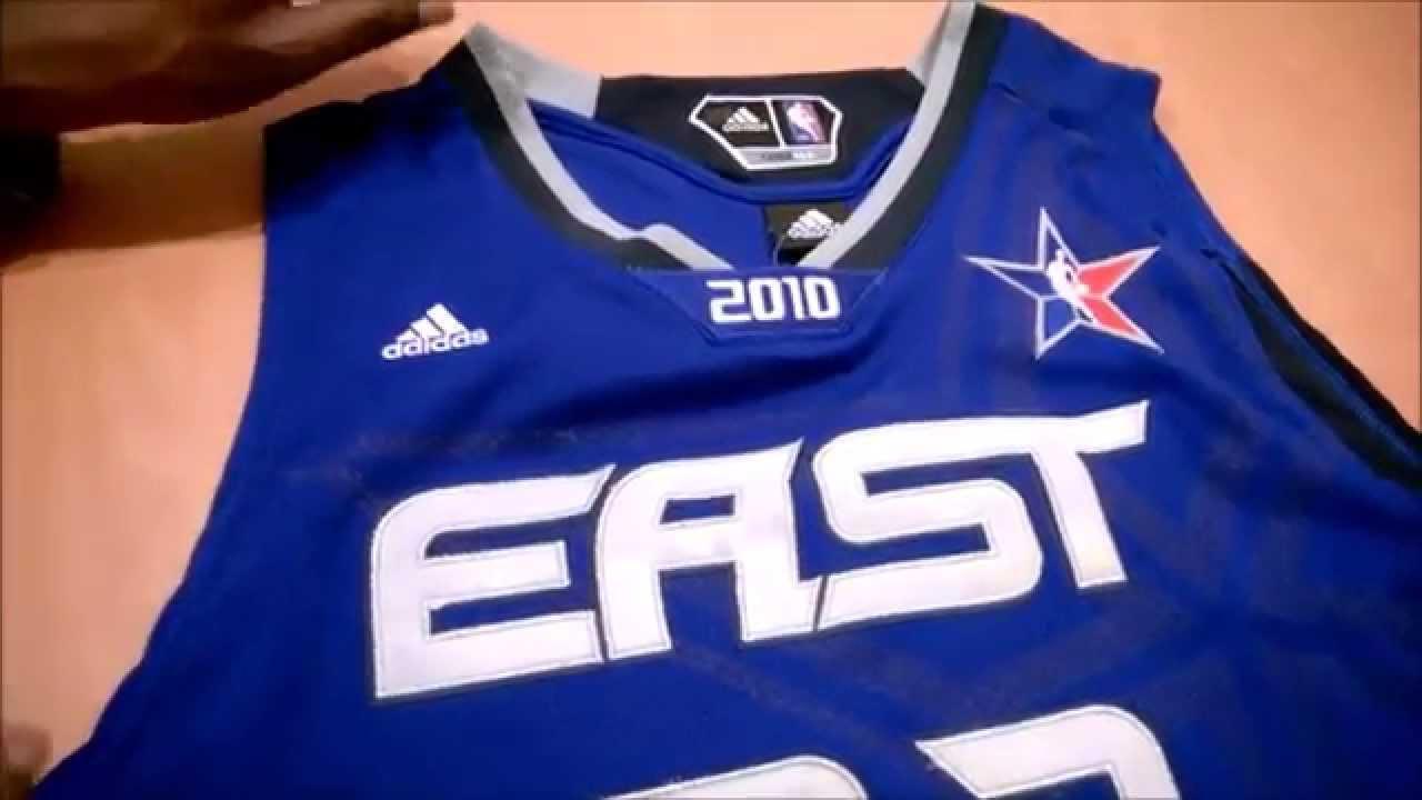 2010 LeBron James NBA All-Star Jersey Authentification - YouTube e2ecd0fe1