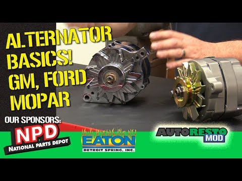 Alternator Basics, Tips Tricks, 1 wire, Models of GM, FORD, MOPAR from 1960  1980s Autorestomod Episo