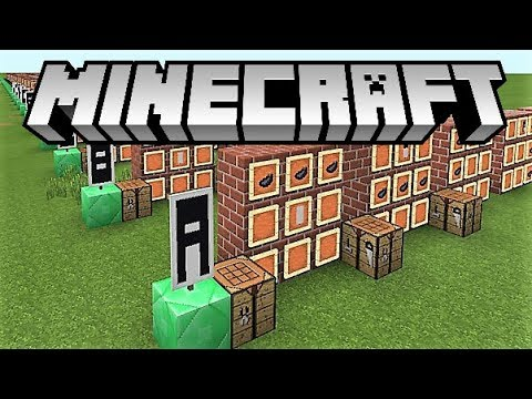 Minecraft How To Make Letters Out Of Banners 2018 All Versions Youtube