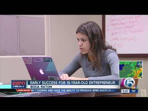 Early success for 15-year-old entrepreneur