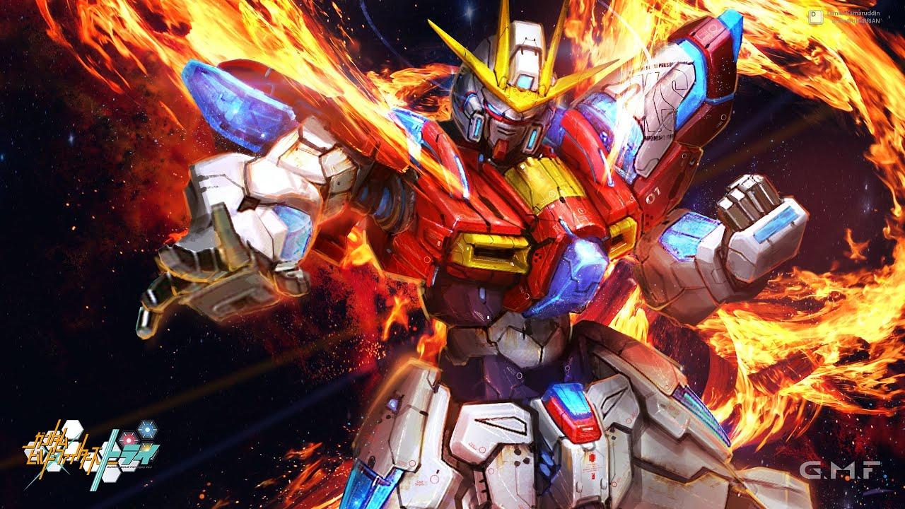 Burning Gundam Wallpaper Hgbf 1 144 Try Release Info Youtube