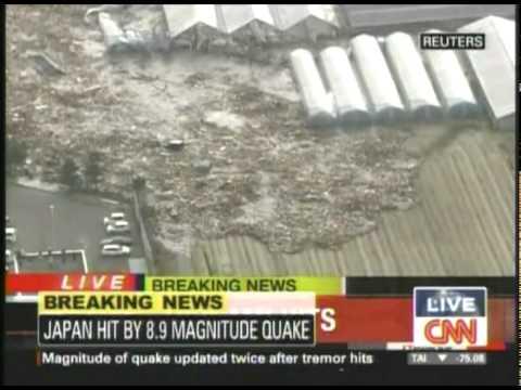 Tsunami hits Japan after magnitude 8.9 quake(Mar-11-2011)