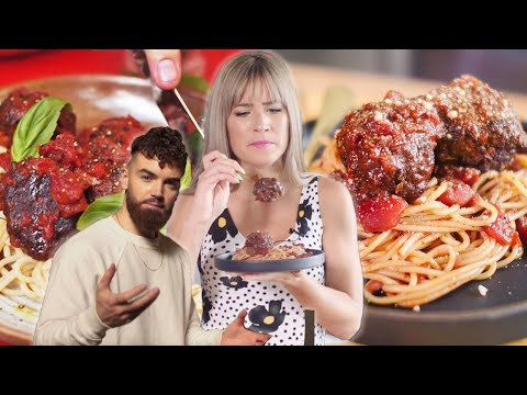 I TRIED MAKING GAZ OAKLEY'S MEATIEST VEGAN MEATBALLS | AvantGardeVegan Recipe | The Edgy Veg