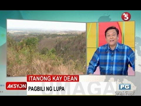 Itanong kay Dean   Pagbili ng lupa