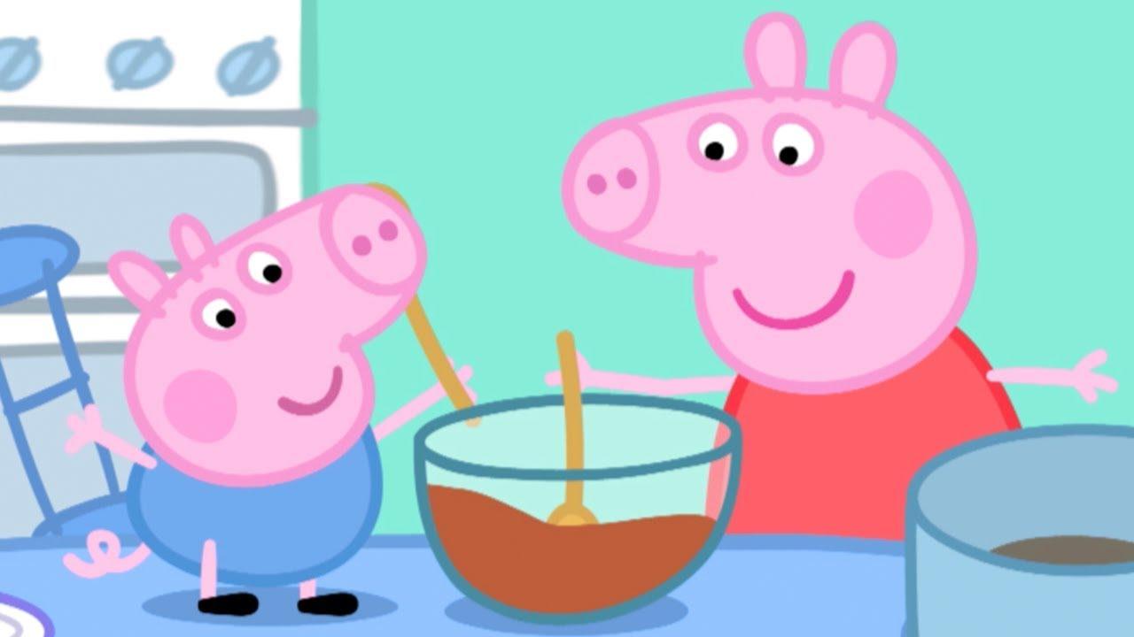 Peppa pig en espa ol peppa hace un pastel dibujos for En youtube peppa pig