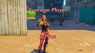 Average Player VS. 2 Pros | Console Player (Fortnite Battle Royale)