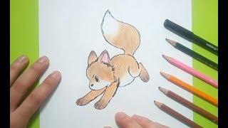Como dibujar un zorro paso a paso 2 | How to draw a fox 2