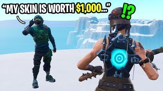 I found a $1000 REFLEX skin in Fortnite random duos and THIS happened... (he is a GOD!)