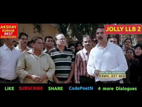AKSHAY KUMAR MOVIES - JOLLY LLB 2 FULL MOVIE DIALOGUES - BEST SCENES - BOLLYWOOD DI
