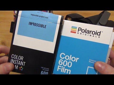 Polaroid Originals vs. The impossible project - Polaroid 600 Film