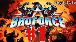 Broforce (PS4) Прохождение игры #1: Первая дюжина супергероев